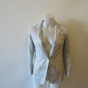 RAG & BONE BLUE WHITE PINSTRIPED BLAZER JACKET 00*